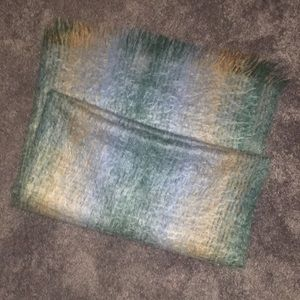 EUC - mohair & wool throw blanket